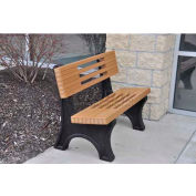 Ariel Bench, Recycled Plastic, 4 ft, Cedar