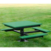 T-Table, Recycled Plastic, 4 ft, Green, ADA