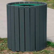 Standard Round Receptacle, Recycled Plastic, 55 Gal., Gray