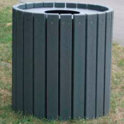 Heavy Duty Round Receptacle, Recycled Plastic, 55 Gal., Gray