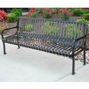 Aspen Bench, Steel, 6 ft, Black