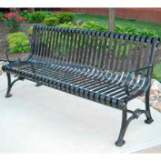 Blair Bench, Steel, 6 ft, Black