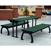 Heritage Table, Recycled Plastic, 6 ft, Black Frame, Green