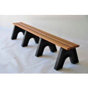 Frog Furnishings Recycled Plastic 8 ft. Sport Bench, Cedar Bench/Black Frame
