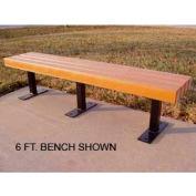 Frog Furnishings Recycled Plastic 8 ft. Trailside Bench, Cedar Bench/Black Frame