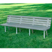 St. Pete Bench, Recycled Plastic, 8 ft, Gray