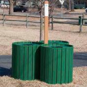 Recycling Center - Resinwood Slats Green 96 Gallon