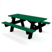A-Frame Table, Recycled Plastic, 6 ft, Green