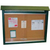 "Jayhawk Plastics Medium Message Center, Recycled Plastic, Two Sides, No Posts, Green, 36""W x 26""H"