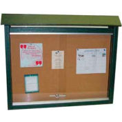 "Jayhawk Plastics Medium Message Center, Recycled Plastic, One Side, No Posts, Green, 36""W x 26""H"