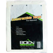 BOEN CT-1520 Fire Retardant Construction Tarp, 10x10 Weave, 15' x 20'