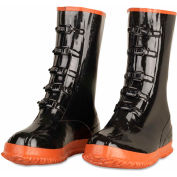 Enguard 5 Buckle Overshoe Boots, Rubber, Black, Size 11, 1 Pair