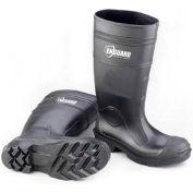 "Enguard PVC Plain Toe Waterproof Boots, 16"" Height, Black, Size 11, 1 Pair"