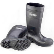"Enguard PVC Steel Toe Waterproof Boots, 16"" Height, Black, Size 9, 1 Pair"