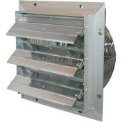 "J&D ES Shutter Fan 10"", 115V, 1/8HP, 1PH, 3 Speeds, Aluminum Shutters, 9' Cord"