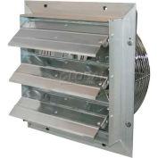 "J&D ES Shutter Fan 16"", 115/230V, 1/10HP, 1PH, Variable Speed, Aluminum Shutters"