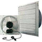 "J&D ES Shutter Fan 16"", Indoor/Outdoor, 115V,1PH, 3 Speed, Aluminum Shutters, 9' Cord"
