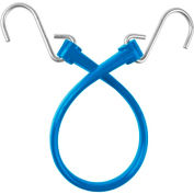 "The Perfect Bungee B18 13"" Bungee Strap W/Galvanized S Hook End (Overall Length 18""), Blue - Pkg Qty 6"
