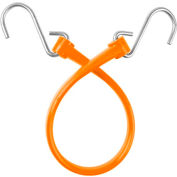 """The Perfect Bungee B18 13"""" Bungee Strap W/Galvanized S Hook End (Overall Length 18""""), Orange - Pkg Qty 6"""