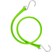 """The Perfect Bungee B36 31"""" Bungee Strap W/Galvanized S Hook End (Overall Length 36""""), Safety Green - Pkg Qty 4"""