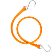 "The Perfect Bungee B36 31"" Bungee Strap W/Galvanized S Hook End (Overall Length 36""), Orange - Pkg Qty 4"