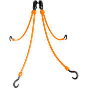 "The Perfect Bungee FE18-4 18"" Flex Web (4-Arm), Orange"