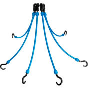 "The Perfect Bungee FE18-6 18"" Flex Web (6-Arm), Blue"