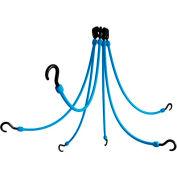 "The Perfect Bungee FE24-6 24"" Flex Web (6-Arm), Blue"