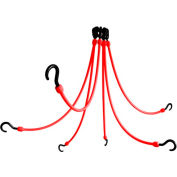 "The Perfect Bungee FE24-6 24"" Flex Web (6-Arm), Red"