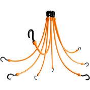 "The Perfect Bungee FE24-8 24"" Flex Web (8-Arm), Orange"