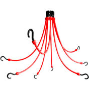 "The Perfect Bungee FE24-8 24"" Flex Web (8-Arm), Red"