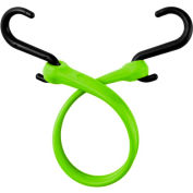 """The Perfect Bungee PBNH18 13"""" Bungee Strap With Nylon S Hook Ends (Overall Length 18""""), Safety Green - Pkg Qty 4"""