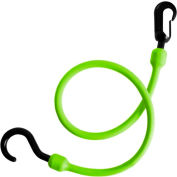 "The Perfect Bungee PC24FEB 24"" Fixed End Bungee Cord, Safety Green - Pkg Qty 6"