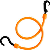 """The Perfect Bungee PC24FEB 24"""" Fixed End Bungee Cord, Orange - Pkg Qty 6"""