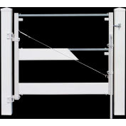 "Adjust-A-Gate II AG23006 Ranch Style Fence Gate Frame 3 Rail Kit 72""W x 38""H, White"