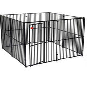 "Lucky Dog European Style Modular Dog Kennel 72""H x 120""W x 120""L, Black"