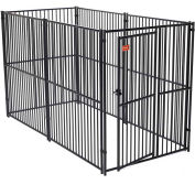 "Lucky Dog European Style Modular Dog Kennel 72""H x 60""W x 120""L, Black"