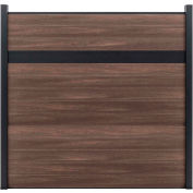Estate 6'W x 6'H King Cedar Aluminum/Composite Horizontal Fence Starter Section- IN GROUND