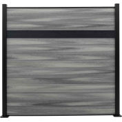 Estate 6'W x 6'H Oxford Grey Aluminum/Composite Horizontal Fence - Starter Section-SURFACE MOUNT