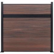Estate 6'W x 6'H Black Rose Aluminum/Composite Horizontal Fence - Starter Section-SURFACE MOUNT