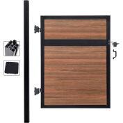 Estate 4'W x 6'H King Cedar Aluminum/Composite Adjustable Single Fence Gate Kit - IN GROUND ONLY