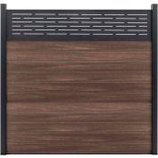 Lattice Top 6'W x 6'H King Cedar Aluminum/Composite Horizontal Fence Starter Section- IN GROUND