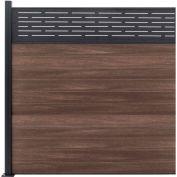 Lattice Top 6'W x 6'H King Cedar Aluminum/Composite Horizontal Fence Adder Section - SURFACE MT