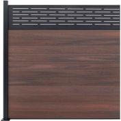 Lattice Top 6'W x 6'H Black Rose Aluminum/Composite Horizontal Fence Adder Section - SURFACE MT