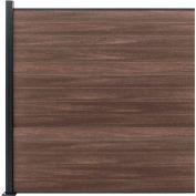 Full Composite 6'W x6'H King Cedar Aluminum/Composite Horizontal Fence Adder Section - SURFACE MT