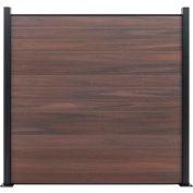 Full Composite 6'W x 6'H Black Rose Aluminum/Composite Horizontal Fence-Starter Section-SURFACE MT