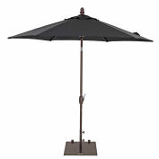 TrueShade® 9' Garden Parasol Umbrella - Push Button Tilt and Crank - Black