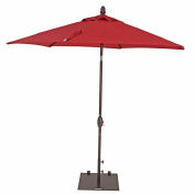 TrueShade® 9' Garden Parasol Umbrella - Push Button Tilt and Crank - Jockey Red