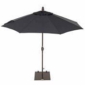 TrueShade® 9' Market Umbrella - Push Button Tilt - Black
