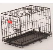 "Lucky Dog 2 Door Dog Training Crate 13""W x 16""H x 22""L, Black"